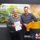Contract ondertekening sponsor Snoek Puur Groen