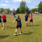 Schoolkorfbaltoernooi op het sportveld in Grou 15-05-2019